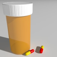 3d model pill bottle