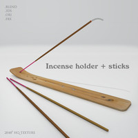 3d incense holder sticks