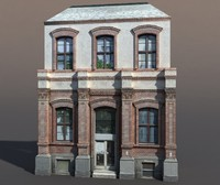 3d model building exterior modeled