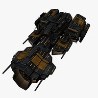 upgraded ship space battleships 3d model