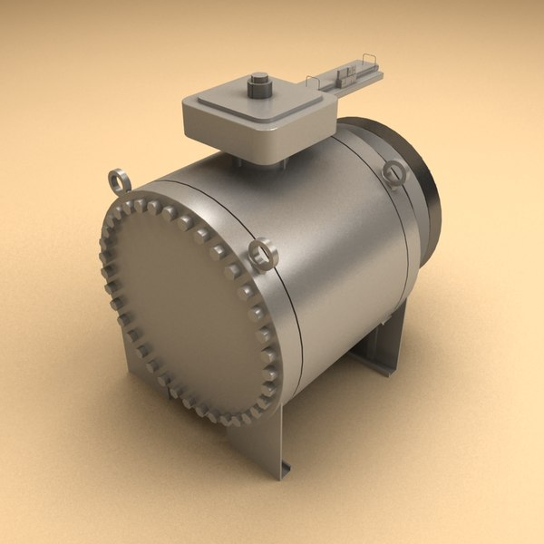 3d model flow valve - Trunnion Ball Valve... by Fresh Pear 3d