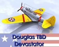 3d model tbd devastator bomber