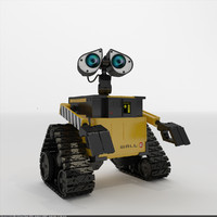 3d model robot wall-e