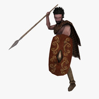 Low Poly Ancient Spearman