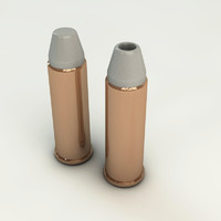 3ds max realistic magnum 44 bullet