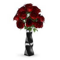red rose black