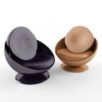 3d armchair sphere