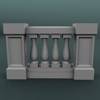 balustrade architectural 3ds