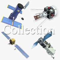 space satellite 1 3d 3ds