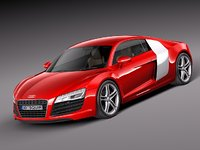 3d model of audi r8 coupe supercar