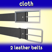 3d model of leather belts