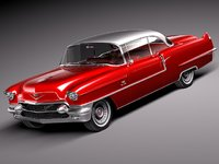 3d model of cadillac coupe deville 1956