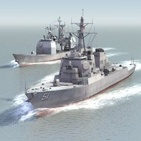 3d navy ships warships model