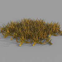 free cartoon grass 3d model