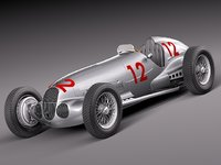 Mercedes-Benz W125 Grand Prix Race Car