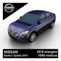 2013 nissan sentra sylphy 3d model