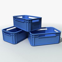 plastic storage crates 3d model