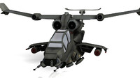 apache sci-fi 3d model