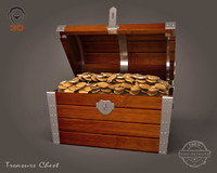 3d model realistic treasure chest