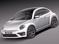 3d volkswagen beetle 2014 r-line model