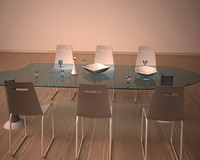 3d model minimalistic dining table
