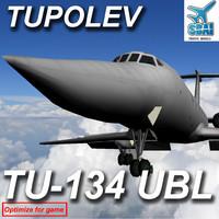 3d tupolev 134 tu
