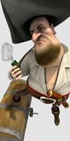 character pirat flint 3d model