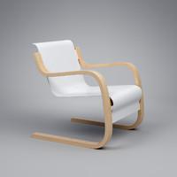 3d armchair 42 alvar aalto