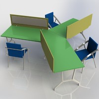 3d office table model