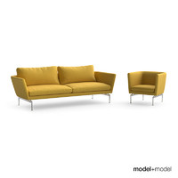 vitra suita sofa armchair 3d model