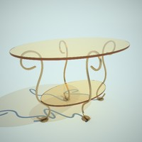 3ds max oval little table