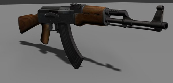 ak 47 3d model - AK 47 Game Ready... by Slack_Jaw