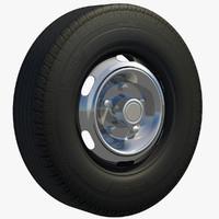 truck rim wheel 3d c4d