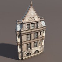 3d building exterior modelled model