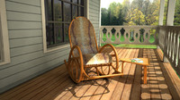 3d model rocking chair sicilia