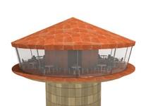 3d model revolving restaurant