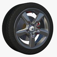 wheel sport car rim c4d