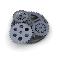 Steampunk Gears Set 02