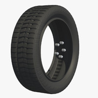 wheel rubber tire c4d