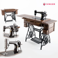 sewing machine singer 66 3d max