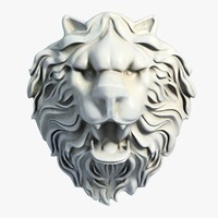 Lion Head Sculpture 2
