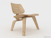 3d model of lounge chair plywood