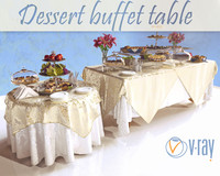 3d model of dessert table