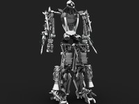3ds max robot machine