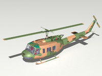 bell uh-1h uh-1 helicopter 3d model