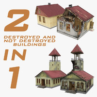 Destroyed and not Destroyed Buildings 2 in 1
