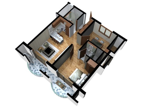 Doll House Floor Plans   Free Online Image House Plans    Doll House Floor Plan D View Blender on doll house floor plans