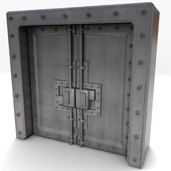 3ds max metal door - Metal Huge Door Textured Collection... by Litarvan