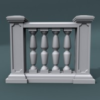 balustrade architectural 3d model