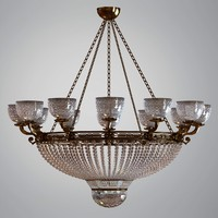 Round Chandelier with Glass Elements